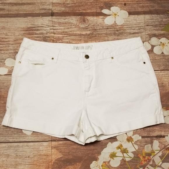 Jennifer Lopez Pants - ➕ Jennifer Lopez white denim shorts